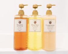 Shampoo, rinse, and body soap