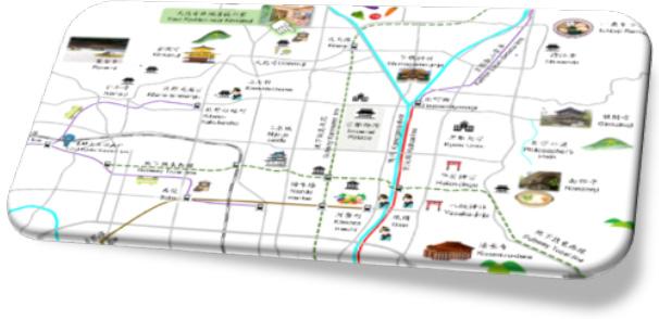 京都市内拡大地図