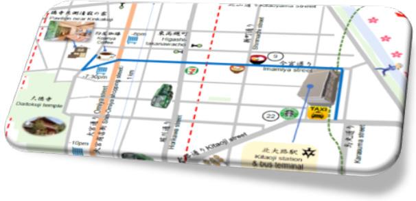 自転車圏地図