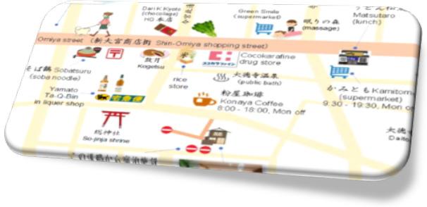 徒歩圏地図