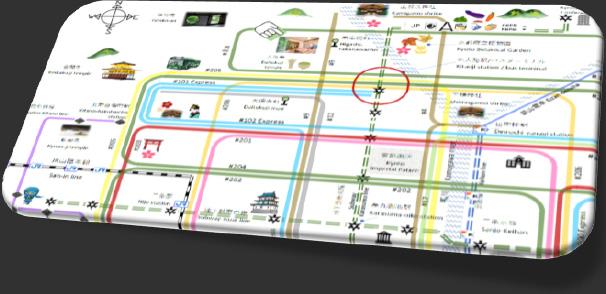 市内観光向け主要BUS路線図